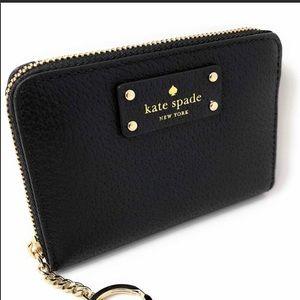Kate Spade ♠️ Black Jeanne Keychain Wallet